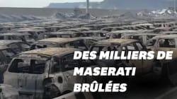 Un parking de Maserati part en fumée dans un incendie en