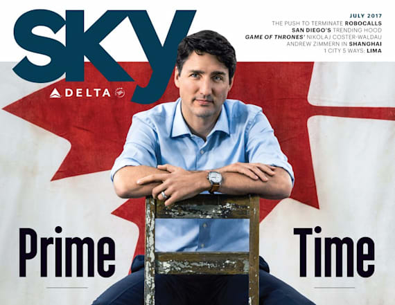 Trudeau's pose on magazine has social media on fire