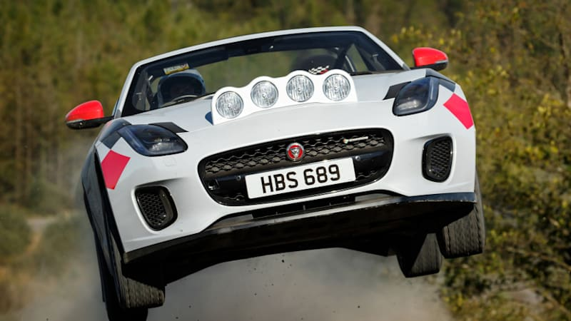 Jaguar F-Type Rally Car First Ride