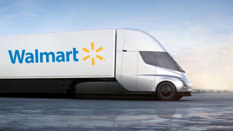 Walmart and J.B. Hunt reserve Tesla Semi trucks - Autoblog