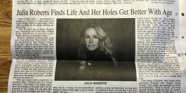 "Photo de l'article sur Julia Roberts publié dans le ""Post-Journal"""