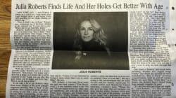 Cette coquille dans cet article sur Julia Roberts l'a rendu très