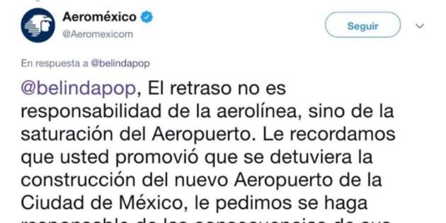 El tuit de Aeroméxico
