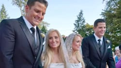 Gemelli sposano gemelle: stesso vestito per la cerimonia, andranno a vivere nella stessa