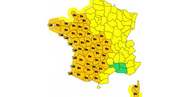 Tempête Carmen: 40 départements placés en vigilance orange