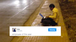 This Picture Of A Man Working On A Footpath Is The Newest Meme On The