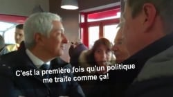 Échange très tendu entre Nicolas Dupont-Aignan et le patron du marché de