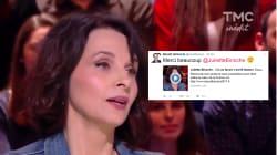 Benoît Hamon remercie Juliette Binoche pour son