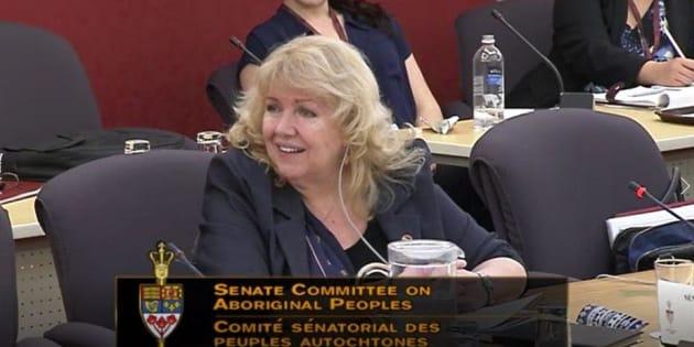 Sen. Lynn Beyak is shown at committee.