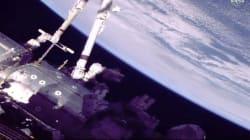 Deux astronautes ont débuté une sortie