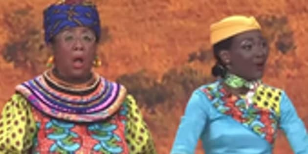 A skit featuring actors in blackface on China's English-language TV station, CCTV, during the 'Spring Festival Gala', has gone viral.