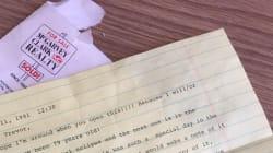 Su abuela le escribió en 1991 una carta que no podía abrir hasta 2017: ese momento ha