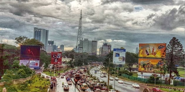 Afternoon traffic into Nairobi's CBD.