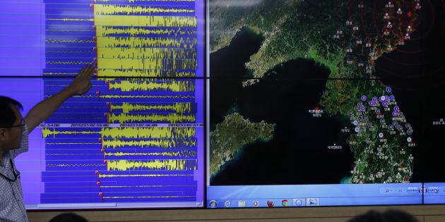 A Administração Meteorológica da Coreia do Sul, de olho no vizinho do norte.