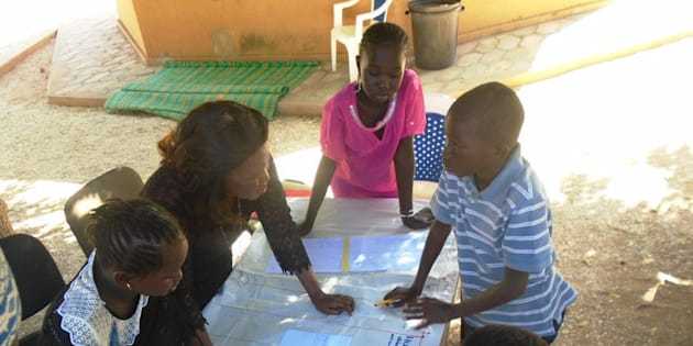 Children in Senegal collaborate to create an operational plan for the fight against TB.