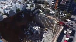 VIDEO: Derrumbe múltiple en un fraccionamiento de