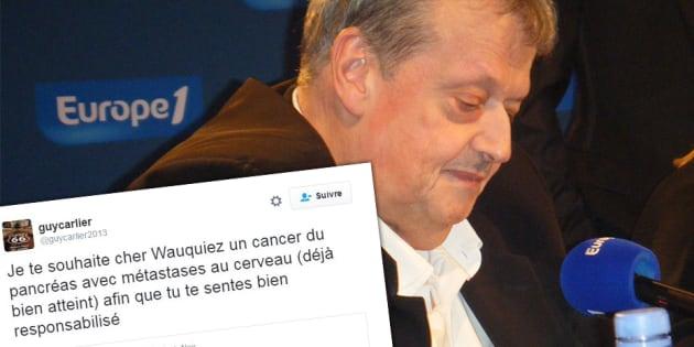 """Guy Carlier souhaite à Laurent Wauquiez un """"cancer du pancréas avec métastases au cerveau"""""""