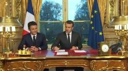 Emmanuel Macron ne se lasse pas de sa mise en scène à