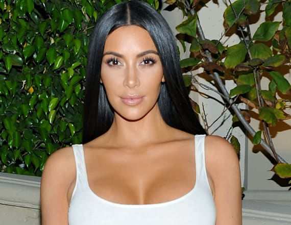 Kim Kardashian rocks see-through, crystal skirt