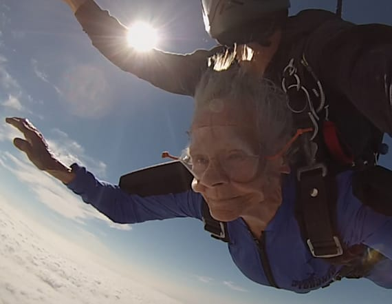 88-year-old grandma goes skydiving