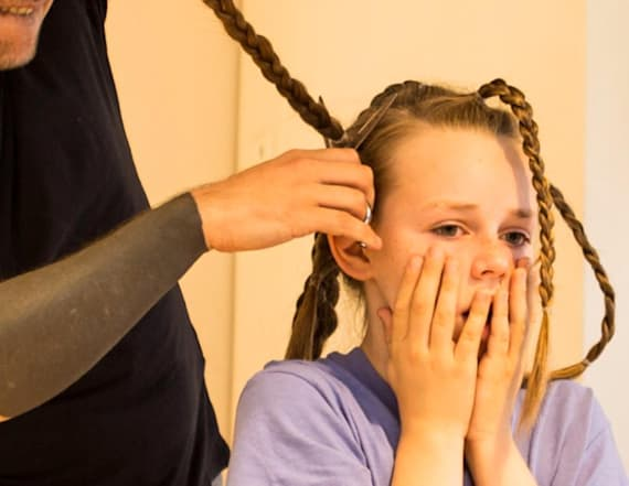 11-year-old boy grows hair out to donate to charity