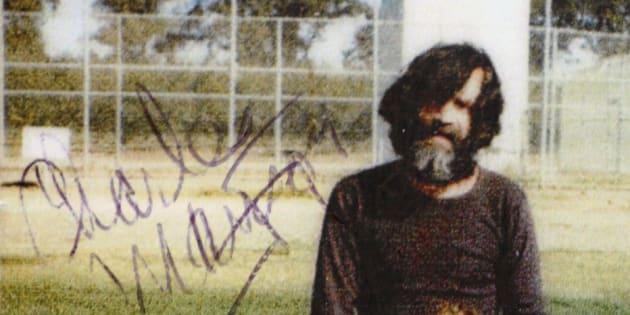 Charles Manson et son ami Eddie Ragsdale, en 1980 à la prison de Vacaville.