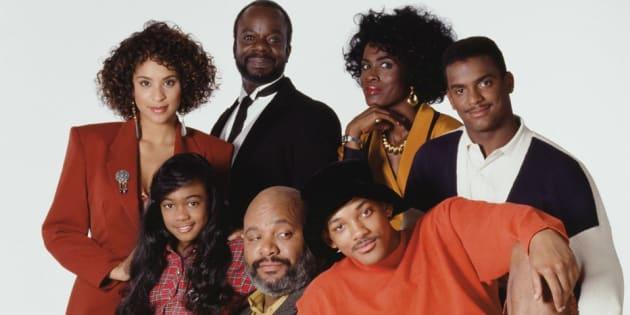 """Le casting du """"Prince de Bel-Air"""", diffusé entre 1990 et 1996 sur la chaîne américaine NBC."""