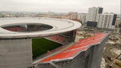 La France jouera dans l'Ekaterinbourg Arena, le stade à l'échafaudage