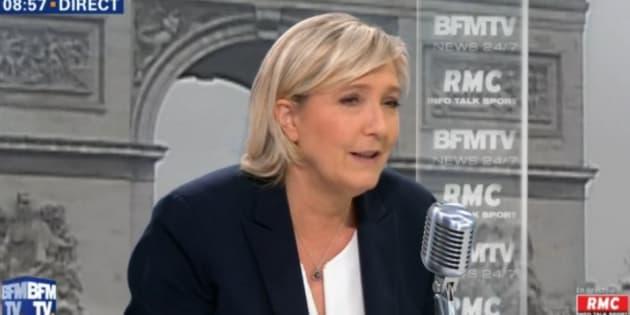 Marine Le Pen, sur BFMTV, le 3 janvier 2017.