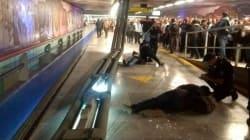Se caen lámparas en la Línea 8 del Metro; hay dos personas