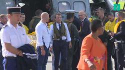 Les images de la visite de Macron à
