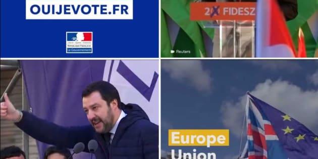 Le clip vidéo gouvernemental appelle à voter pour les élections européennes de mai 2019.