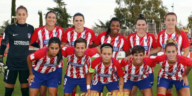 Equipo femenino del Atlético de Madrid