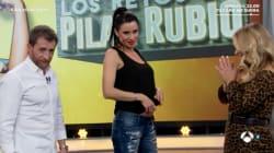 Pilar Rubio presume de tripa de embarazada en 'El