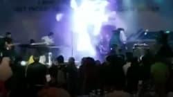 VÍDEO: El tsunami sorprende a una banda en pleno