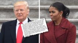 Michelle Obama dévoile dans son livre la sortie de Trump qu'elle