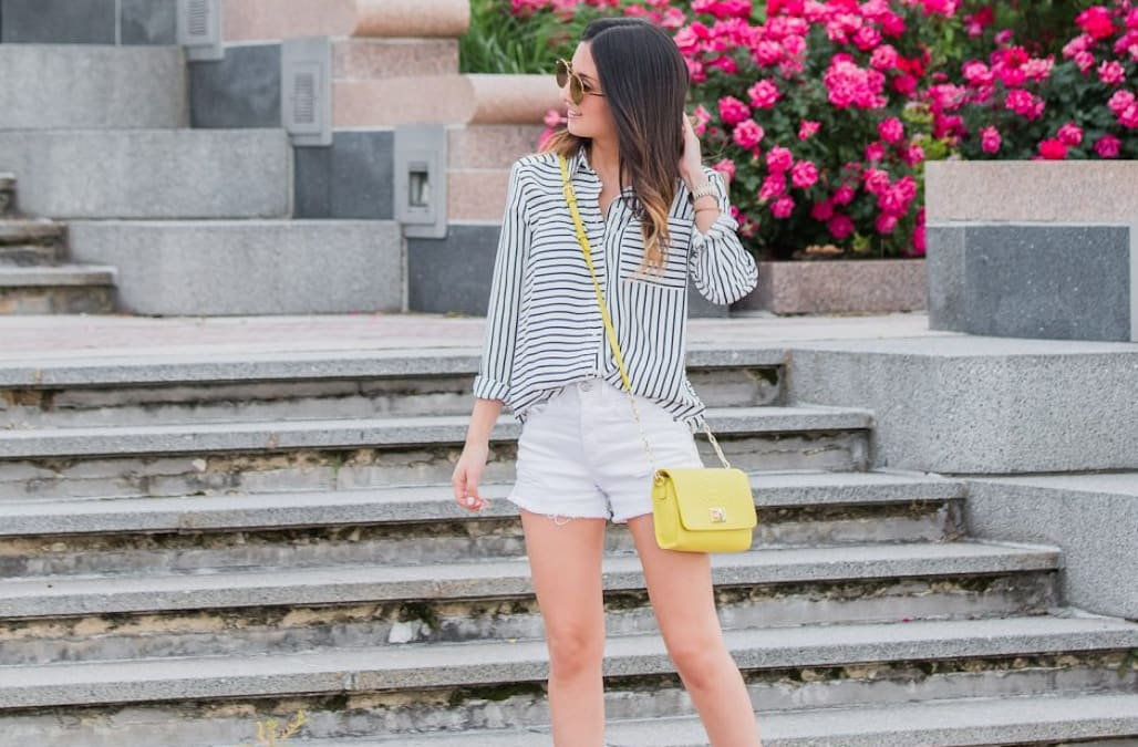 3253fd11b55e Street style tip of the day  Stripes and strappy heels - AOL Lifestyle