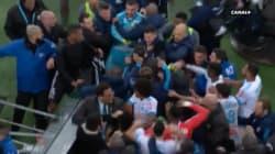Violents accrochages entre joueurs après la victoire de Lyon à