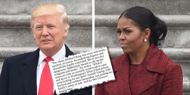 """Michelle Obama se confie dans son livre """"Becoming"""" et aborde notamment le comportement de Donald Trump"""