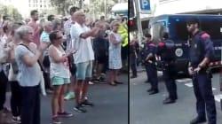 Les forces de l'ordre applaudies par la foule dans les rues de