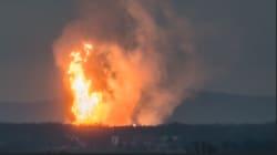 Les images impressionnantes de l'explosion dans un terminal gazier en