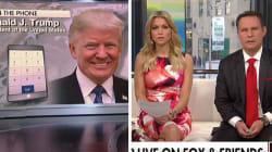 Trump voulait faire passer un message mignon à la TV pour l'anniversaire de Melania, c'est