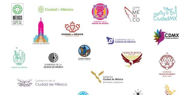 Las 20 propuestas finalistas para la nueva imagen institucional de Ciudad de México.