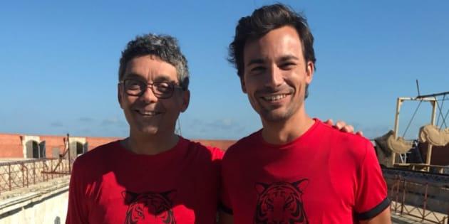 Thierry Moreau et Bertrand Chameroy dans la même équipe à Fort Boyard.