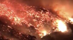 Les images impressionnantes du nouvel incendie qui ravage la