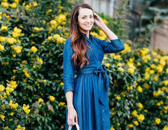 Street style tip of the day: Denim dress