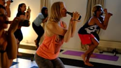 So Apparently Beer Yoga Is A Big Thing