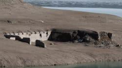 L'Enel toglie l'acqua dal lago di Sauris, in provincia di Udine, ed emerge l'antico