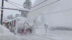 Les images impressionnantes des stations de skis alpines ensevelies sous la