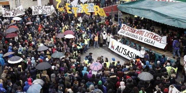 Foto de archivo de una manifestación en apoyo a los detenidos.